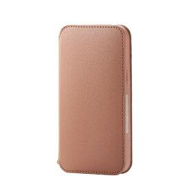 エレコム ELECOM iPhone 12 mini 5.4インチ対応 レザーケース 手帳型 NEUTZ 磁石付き ブラウン