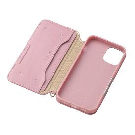 エレコム ELECOM iPhone 12 mini 5.4インチ対応 レザーケース 手帳型 NEUTZ 磁石付き ピンク