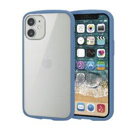 エレコム ELECOM iPhone 12 mini 5.4インチ対応 ハイブリッドケース TOUGH SLIM LITE フレームカラー ブルー