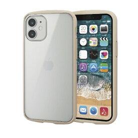 エレコム ELECOM iPhone 12 mini 5.4インチ対応 ハイブリッドケース TOUGH SLIM LITE フレームカラー アイボリー