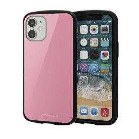 エレコム ELECOM iPhone 12 mini 5.4インチ対応 ハイブリッドケース TOUGH SLIM LITE ピンク
