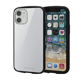 エレコム ELECOM iPhone 12 mini 5.4インチ対応 ハイブリッドケース TOUGH SLIM LITE ホワイト
