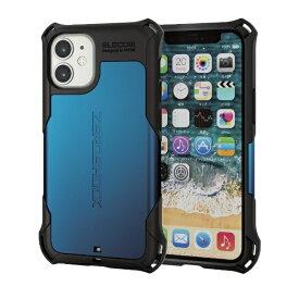 エレコム ELECOM iPhone 12 mini 5.4インチ対応 ハイブリッドケース ZEROSHOCK ブルー