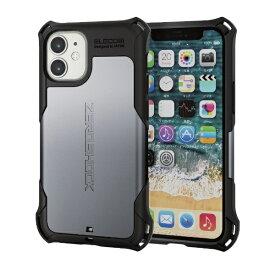エレコム iPhone 12 mini 5.4インチ対応 ハイブリッドケース ZEROSHOCK シルバー