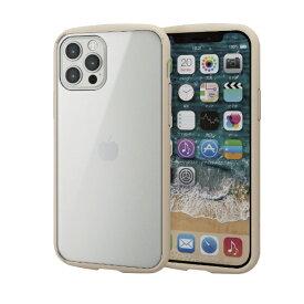 エレコム ELECOM iPhone 12/12 Pro 6.1インチ対応 ハイブリッドケース TOUGH SLIM LITE フレームカラー アイボリー