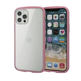 エレコム ELECOM iPhone 12/12 Pro 6.1インチ対応 ハイブリッドケース TOUGH SLIM LITE フレームカラー ピンク
