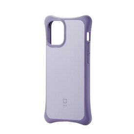 エレコム iPhone 12 mini 5.4インチ対応 ハイブリッドケース finch ふんわりホールド パープル
