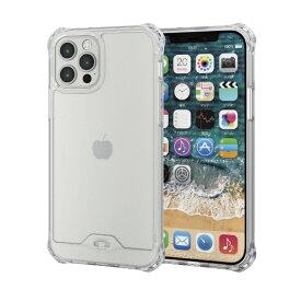 エレコム ELECOM iPhone 12/12 Pro 6.1インチ対応 ハイブリッドケース ZEROSHOCK フォルティモ(R) クリア