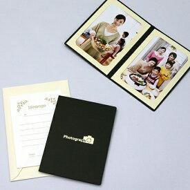 山田屋写真用品 ポケット台紙 Photograph/カメラ L2面(タテ) ブラック PDO-PC-L2TBK