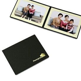 山田屋写真用品 ポケット台紙 Photograph/カメラ L2面(ヨコ) ブラック PDO-PC-L2YBK