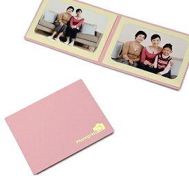 山田屋写真用品 ポケット台紙 Photograph/カメラ L2面(ヨコ) ピンク PDO-PC-L2YPK