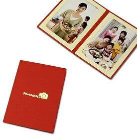 山田屋写真用品 ポケット台紙 Photograph/カメラ L2面(タテ) レッド PDO-PC-L2TRD