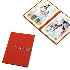 山田屋写真用品 ポケット台紙 Thank you/ツタ L2面(タテ) レッド PDO-TH-L2TRD