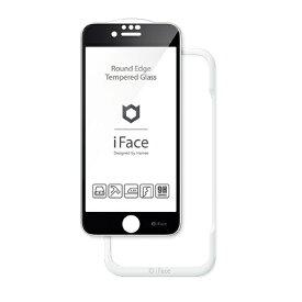 HAMEE ハミィ [iPhone SE 2020/8/7/6s/6専用]iFace Round Edge Tempered Glass Screen Protector ラウンドエッジ強化ガラス 画面保護シート 41-890264 ブラック