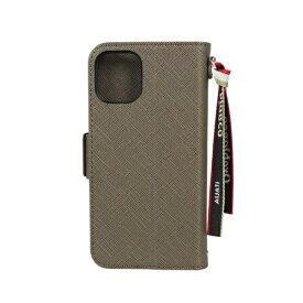 イングリウッド inglewood iPhone 12 mini 5.4インチ対応サフィアーノ調PU Leather BookType Case Khaki