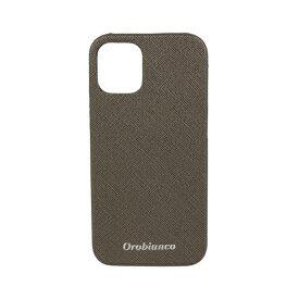 イングリウッド inglewood iPhone 12 mini 5.4インチ対応サフィアーノ調PU Leather Back Case Khaki