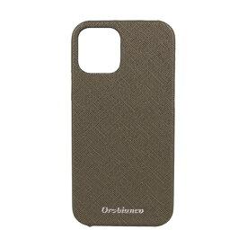 イングリウッド inglewood iPhone 12/12 Pro 6.1インチ対応サフィアーノ調PU Leather Back Case Khaki