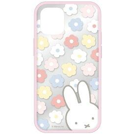グルマンディーズ gourmandise ミッフィー IIII fit Clear iPhone 12 mini 5.4インチ対応ケース フラワー