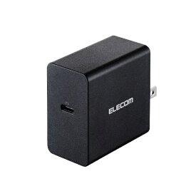 エレコム ELECOM AC - USB充電器 ノートPC・タブレット対応 45W [1ポート:USB-C /USB Power Delivery対応] ブラック ACDC-PD0745BK