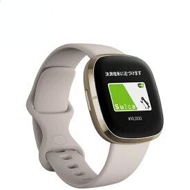 Fitbit フィットビット Fitbit Sense GPS搭載 スマートウォッチ ルナホワイト/ソフトゴールド L/S サイズ ルナホワイト FB512GLWT-FRCJK【ribi_rb】