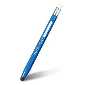 エレコム スマートフォン・タブレット用タッチペン 鉛筆型 シリコン ブルー P-TPENBU