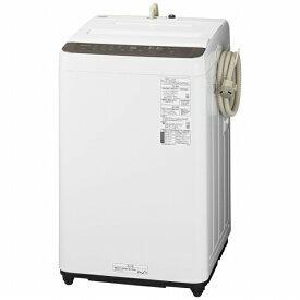 パナソニック Panasonic 全自動洗濯機 Fシリーズ ニュアンスブラウン NA-F60PB14-T [洗濯6.0kg /乾燥機能無 /上開き]