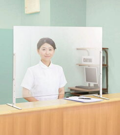 アイリスチトセ IRIS CHITOSE デスクスクリーンH60A (カウンタータイプ)4枚セット(約幅90×奥行23×高さ60.5〜80.5cm)【飛沫ガードパネル 感染対策】
