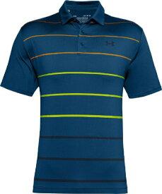 アンダーアーマー UNDER ARMOUR メンズ ゴルフ トップス UAプレーオフポロ2.0 UA Playoff Polo 2.0(LGサイズ/Graphite Blue×Golden Yellow×Academy)1327037