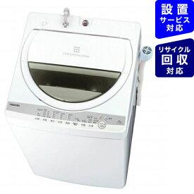 東芝 TOSHIBA 全自動洗濯機 ZABOON(ザブーン) グランホワイト AW-6G9-W [洗濯6.0kg /乾燥機能無 /上開き]