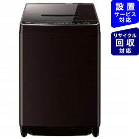 東芝 TOSHIBA 全自動洗濯機 ZABOON(ザブーン) グレインブラウン AW-12XD9-T [洗濯12.0kg /乾燥機能無 /上開き]
