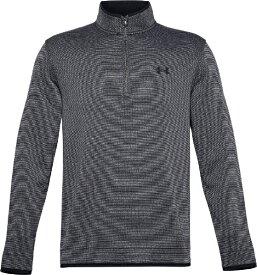アンダーアーマー UNDER ARMOUR メンズ ゴルフ トップス UAストーム セーターフリース 1/2ジップ UA Storm Sweaterfleece 1/2 Zip(LGサイズ/Black×White×Black)1359971
