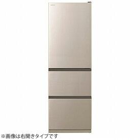 日立 HITACHI 《基本設置料金セット》冷蔵庫 Vタイプ シャンパン R-V38NVL-N [3ドア /左開きタイプ /375L]【zero_emi】