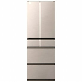日立 HITACHI 《基本設置料金セット》冷蔵庫 Hタイプ シャンパン R-H48N-N [6ドア /観音開きタイプ /475L]【point_rb】