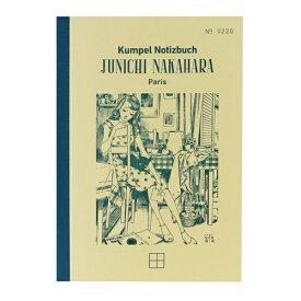 山口証券印刷 Yamaguchi Securities Printing KPNB017 B6ノート Notizbuch-JUNICHINAKAHARA- ターコイズ 方眼