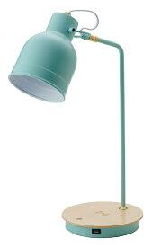 イシグロ LEDスタンドライト スマホ ワイヤレス充電機能付 ブルー 20933