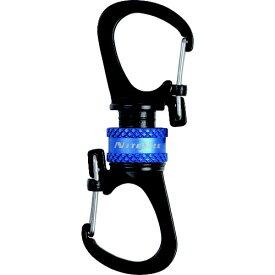 NITE IZE ナイトアイズ 360°マグネットスライドロックカラビナー(ブルー) NI04225