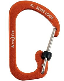 NITE IZE ナイトアイズ スライドロック アルミカラビナー#2(28×4.5mm/レッド) NI04039