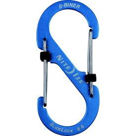 NITE IZE ナイトアイズ エスビナースライドロックアルミニウム#4(41×90mm/ブルー) NI04183