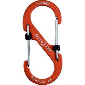 NITE IZE ナイトアイズ エスビナースライドロックアルミニウム#4(41×90mm/オレンジ) NI04186