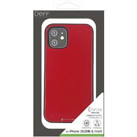 DEFF ディーフ iPhone 12/12 Pro 6.1インチ対応 HYBRID CASE Etanze / ハイブリットケース エタンゼ 化学強化ガラス&TPU複合素材ケース ワイヤレスチャージャー対応 レッド DCS-IPE20MRD