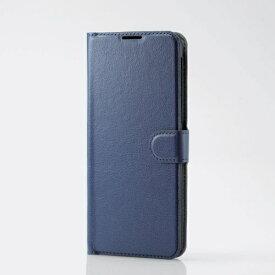 エレコム ELECOM AQUOS zero5G basic ソフトレザーケース 薄型 磁石付 ステッチ ネイビー PM-S202PLFU2NV