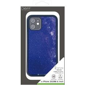 DEFF ディーフ iPhone 12/12 Pro 6.1インチ対応 HYBRID CASE Etanze / ハイブリットケース エタンゼ 化学強化ガラス&TPU複合素材ケース ワイヤレスチャージャー対応 星空ブルー DCS-IPE20MSBU