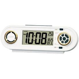 セイコー SEIKO 目覚まし時計 【RAIDEN(ライデン)】 白 NR537W [デジタル /電波自動受信機能有]