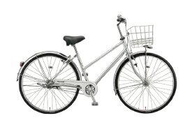 ブリヂストン BRIDGESTONE 27型 自転車 ロングティーン デラックス ベルト・S型モデル(M.XRシルバー/内装3段変速) L73SB1【2021年モデル】【組立商品につき返品不可】 【代金引換配送不可】