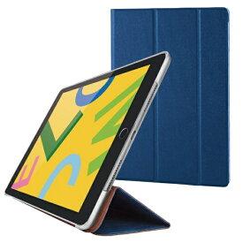 エレコム ELECOM iPad 10.2(第7/第8世代対応) フラップケース ソフトレザー スリープ TB-A19RWVNV ネイビー