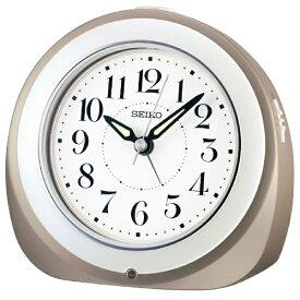 セイコー SEIKO 目覚まし時計 【自動点灯】 グレーメタリック KR336N [アナログ /電波自動受信機能有]
