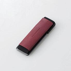 エレコム スマートフォン用ストラップ スマホバンド レザー スタンド機能 レッド P-STBLSRD
