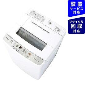 AQUA アクア 全自動洗濯機 ホワイト AQW-S60J-W [洗濯6.0kg /乾燥機能無 /上開き]