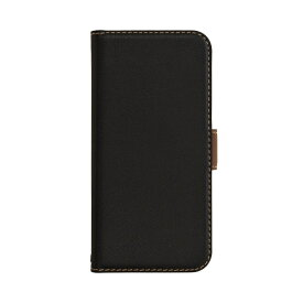 ラスタバナナ RastaBanana iPhone 12 mini 5.4インチ対応 薄型手帳 SMG ブラック×ダークブラウン 5602IP054BO