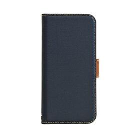 ラスタバナナ RastaBanana iPhone 12 mini 5.4インチ対応 薄型手帳 SMG ネイビー×ブラウン 5604IP054BO